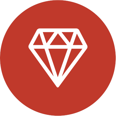 Circle icon diamond